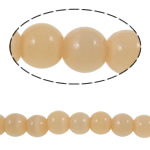 Cats Eye Jewelry Beads Ronde abrikoos 6mm Gat:Ca 0.8mm Lengte:Ca 14.1 inch 10strengen/Bag Ca 59pC's/Strand Verkocht door Bag