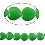 Cats Eye Jewelry Beads Heart green 16x15.50x5mm Hole:Approx 1mm Approx 22PCs/Strand Sold Per Approx 14.1 Inch Strand