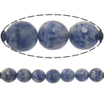 Natural Blue Spot Stone Beads, Round, machine faceted, 12mm, Hole:Approx 2mm, Length:Approx 15 Inch, 5PCs/Lot, Approx 32PCs/Strand, Sold By Lot