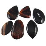 Wisiorki z czarnym agatem, Agat czarny, mieszane, 47-63mm, otwór:około 2.5-3mm, 20komputery/torba, sprzedane przez torba