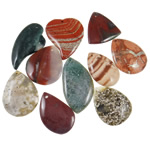 Agate Jewelry Pendants, Original Color Agate, mixed, 41-65mm, Hole:Approx 1.5-3.5mm, 20PCs/Bag, Sold By Bag