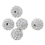 Rhinestone Clay Pave Beads, 10mm, PP15, Hole:Approx 2mm, 100PCs/Lot, Sold by Lot