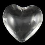 Jäljitelmä CRYSTALLIZED™ kristalli helmiä, Sydän, läpikuultava, Kristalli, 42.50x42x15.50mm, Reikä:N. 2mm, 10PC/laukku, Myymät laukku