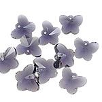 Zawieszki kryształowe, Kryształ, Motyl, imitacja kryształu CRYSTALLIZED™ & prześwitujący, Tanzanit, 15x12x7.50mm, otwór:około 1mm, 10komputery/torba, sprzedane przez torba