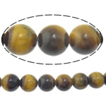 Natural Tiger Eye Beads, Round, 14mm, Hole:Approx 1.2-1.4mm, Length:Approx 15 Inch, 5Strands/Lot, Approx 27PCs/Strand, Sold By Lot