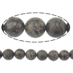 Natural Snowflake Obsidian Beads, Round, 8mm, Hole:Approx 1mm, Length:Approx 15 Inch, 10Strands/Lot, Approx 46PCs/Strand, Sold By Lot