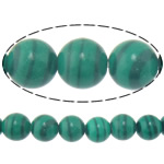 Natural Malachite Beads, Round, 6mm, Hole:Approx 0.8mm, Length:Approx 15 Inch, 10Strands/Lot, Approx 60PCs/Strand, Sold By Lot