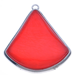 Resin Pendant, with Zinc Alloy, Triangle, 80x68.50x16mm, Hole:Approx 5mm, 10PCs/Bag, Sold By Bag