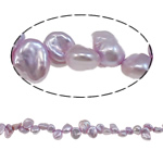 Reborn Cultured Freshwater Pearl Beads, light purple, 6-8mm, Hole:Approx 0.8mm, Sold Per 15.7 Inch Strand
