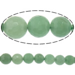 Natural Aventurine Beads, Green Aventurine, Round, machine faceted, 8mm, Hole:Approx 2mm, Length:Approx 15 Inch, 10Strands/Lot, Sold By Lot