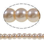Glass Pearl Beads, Round, light pink, 6mm, Hole:Approx 1-1.5mm, Length:Approx 32.3 Inch, 10Strands/Bag, Sold By Bag