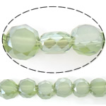 Imitation CRYSTALLIZED™ Element Crystal Beads, Flat Round, half-plated, imitation CRYSTALLIZED™ crystal, olive green, 6x6x3.50mm, Hole:Approx 1mm, Length:Approx 22 Inch, 5Strands/Lot, Sold By Lot