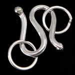 925 Sterling Silver S Hook Clasp, 7.50x10.50x1.50mm, Hole:Approx 4mm, 20Sets/Lot, Sold By Lot