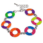 Zinc Alloy Bracelet, enamel, nickel, lead & cadmium free, 28x21x3.50mm, Sold Per 7.5 Inch Strand