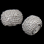 925 Sterling Silver European Beads, Rondelle, without troll, real silver plated, 11.50x7.50mm, Hole:Approx 5mm, 3PCs/Bag, Sold by Bag