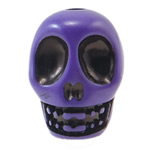 Antique Acrylic Beads, Skull, opaque, Imitation Antique, purple, 14x18x17.50mm, Hole:Approx 2.8mm, 187PCs/Bag, Sold By Bag