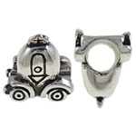 Zinc Alloy European Beads, Car, antique silver color plated, without troll, nickel, lead &amp; cadmium free, 12.70x12.50x8.20mm, Hole:Approx 5mm, 10PCs/Bag, Sold by Bag