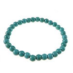 Fashion Turquoise Bracelets, Round, blue, 10mm, Length:Approx 7 Inch, 50Strands/Lot, Sold By Lot