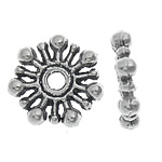 Zinc Alloy Spacer Beads Flower antique silver color plated nickel lead   cadmium free 10x2mm Hole:Approx 2mm Approx 2500PCs/KG