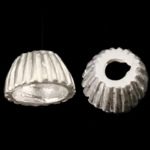 925 Sterling Silver Bead Cap, Cone, corrugated, 5x3mm, Hole:Approx 1mm, 100PCs/Bag, Sold By Bag