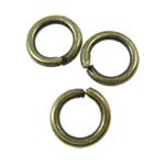 Iron Closed Jump Ring, 6x1mm, Hole:Approx 4.5mm, 9090PCs/KG, Sold by KG
