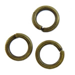 Iron Closed Jump Ring, 4x0.7mm, Hole:Approx 2.7mm, 31250PCs/KG, Sold by KG