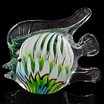 Lampwork Decoration, Fish, handmade, 127x105x51mm, Sold by PC
