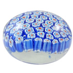 Millefiori Decoration, Flat Round, handmade, 73x50mm, Sold by PC