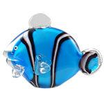 Lampwork Decoration, Fish, handmade, blue, 183x133x92mm, Sold by PC