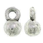 Zinklegering Hangers, Zinc Alloy, antiek zilver plated, nikkel, lood en cadmium vrij, 4x6.50x3.50mm, Gat:Ca 1.3mm, Ca 2000pC's/KG, Verkocht door KG