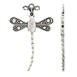 Zinc Alloy Pendant Rhinestone Setting, Dragonfly, antique silver color plated, nickel, lead & cadmium free, 25.20x38x2.20mm, Hole:Approx 1.5mm, Approx 500PCs/KG, Sold By KG