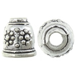 Zinc Alloy Cone Beads, antique silver color plated, nickel, lead & cadmium free, 10x11mm, Hole:Approx 2.8, 7.5mm, Approx 666PCs/KG, Sold By KG