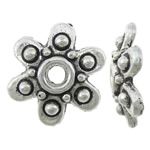 Zinc Alloy Bead Cap, Flower, antique silver color plated, nickel, lead & cadmium free, 9.50x9.50x2.50mm, Hole:Approx 1.8mm, Approx 2000PCs/KG, Sold By KG