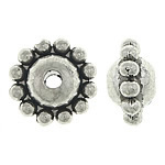 Zinc Alloy Spacer Beads, Bicone, antique silver color plated, nickel, lead & cadmium free, 9.30x9.30x5mm, Hole:Approx 1.7mm, Approx 1000PCs/KG, Sold By KG