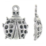 Zinc Alloy Pendant Rhinestone Setting, Ladybug, antique silver color plated, nickel, lead & cadmium free, 16x21x4.50mm, Hole:Approx 2mm, Inner Diameter:Approx 2, 1.5mm, Approx 500PCs/KG, Sold By KG