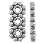 Zinc Alloy Spacer Bar, antique silver color plated, 3-strand, nickel, lead & cadmium free, 6.80x16x2mm, Hole:Approx 2mm, Approx 833PCs/KG, Sold By KG