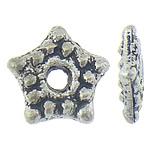 Koraliki dystansowe stopu cynku, Stop cynku, Gwiazdka, Platerowane kolorem starego srebra, bez zawartości niklu, ołowiu i kadmu, 5.30x5x1.20mm, otwór:około 1.2mm, około 2500komputery/KG, sprzedane przez KG