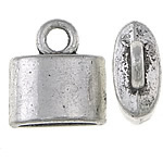 Zinc Alloy End Cap, antique silver color plated, nickel, lead & cadmium free, 12x10x5mm, Hole:Approx 3mm, Inner Diameter:Approx 8x3mm, approx 909PCs/KG, Sold by KG