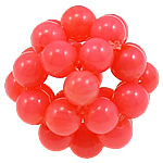 Natural Coral Beads Round cherry 16mm Hole:Approx 3mm