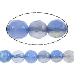 Agate Beads, Fire Agate, Round, different size for choice & machine faceted, blue, Sold Per Approx 14.5 Inch Strand