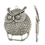 Zinc Alloy Pendant Rhinestone Setting, Owl, antique silver color plated, nickel, lead & cadmium free, 61x77x4mm, Hole:Approx 4.5mm, Inner Diameter:Approx 8mm, Sold By PC