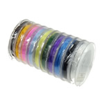 Elastic Thread, mixed colors, 48mm, 0.6mm, Length:100 m, 10PCs/Lot, 10/PC, Sold By Lot