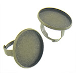 Brass Bezel Ring Base, antique bronze color plated, nickel, lead & cadmium free, 24.8x24.8x2mm, 23.3x23.3mm, Inner Diameter:Approx 17.3mm, Size:6, 200PCs/Bag, Sold By Bag