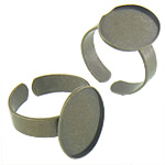 Brass Bezel Ring Base, antique bronze color plated, nickel, lead & cadmium free, 13.40x18.30x1mm, Inner Diameter:Approx 13x17.8, 18.5mm, Size:7.5, 500PCs/Bag, Sold By Bag
