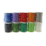 Nylon Cord, with plastic spool, mixed colors, 0.80mm, Length:100 m, 10PCs/Lot, Sold By Lot