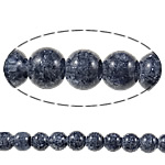 Crackle Glass Beads, Round, dark blue, 8mm, Hole:Approx 1.5mm, Length:Approx 33 Inch, 10Strands/Bag, Sold By Bag