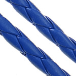 Leather Cord PU woven dark blue 5mm Length:100 m