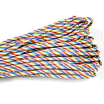 Paracord, 330 Paracord, multi-colored, 4mm, 5Strands/Lot, 31m/Strand, Sold By Lot