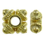 Zinc Alloy Jewelry Spacer Bead, Square, gold color plated, nickel, lead & cadmium free, 9.5x2.5mm, Hole:Approx 2mm, approx 3330PCs/KG, Sold by KG