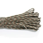 Paracord, 330 Paracord, Olive green camouflage, 4mm, 5Strands/Lot, 31m/Strand, Sold By Lot